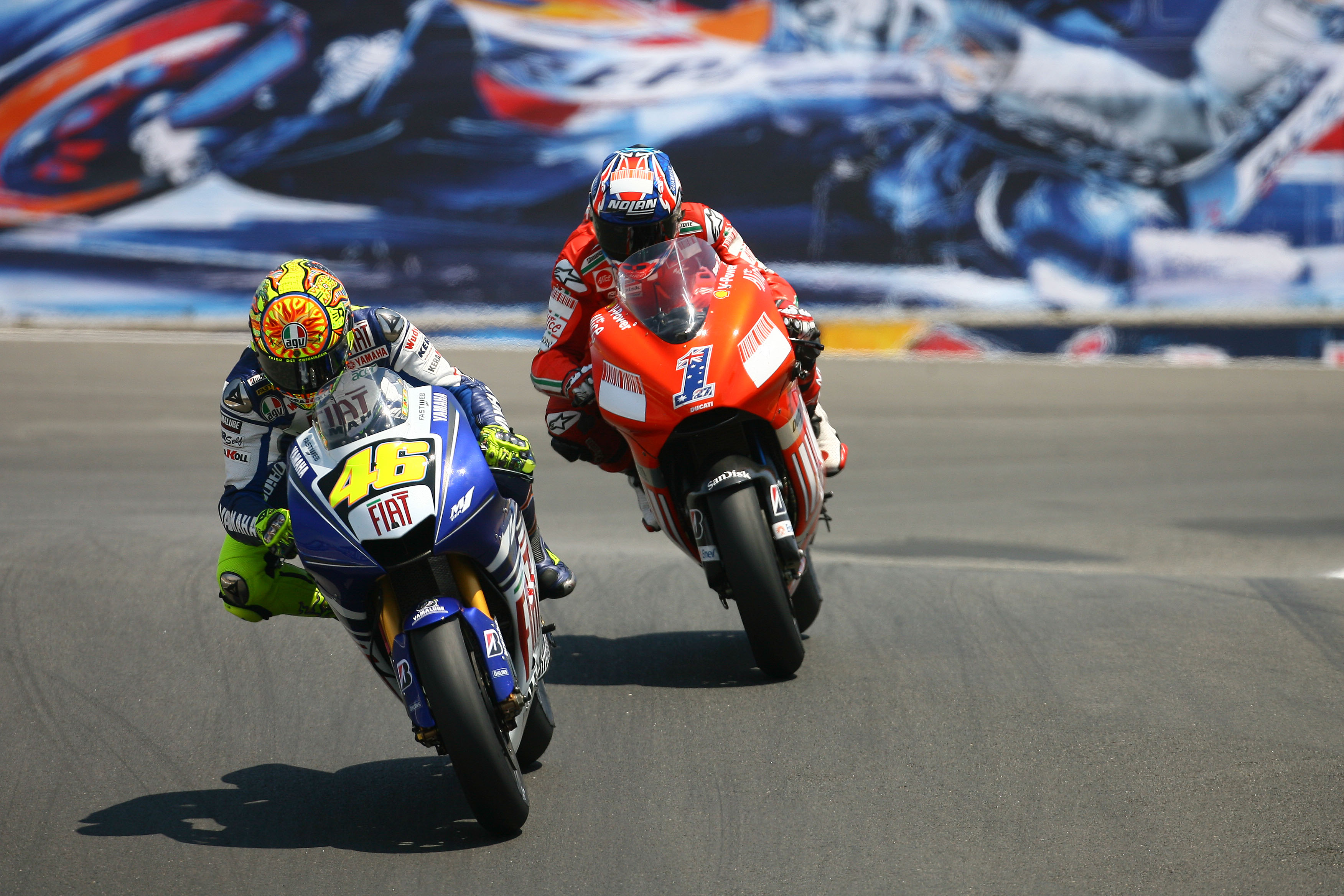 Valentino Rossi, Casey Stoner, 2008 United States MotoGP, Laguna Seca,