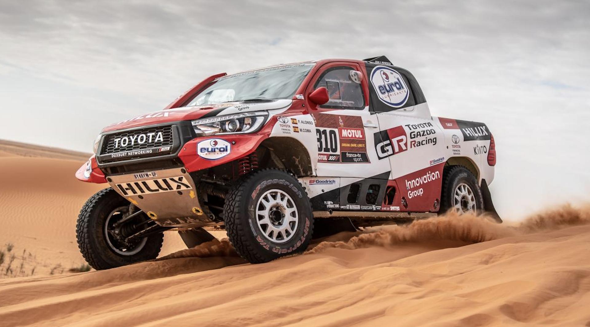 Fernando Alonso at the 2020 Dakar Rally