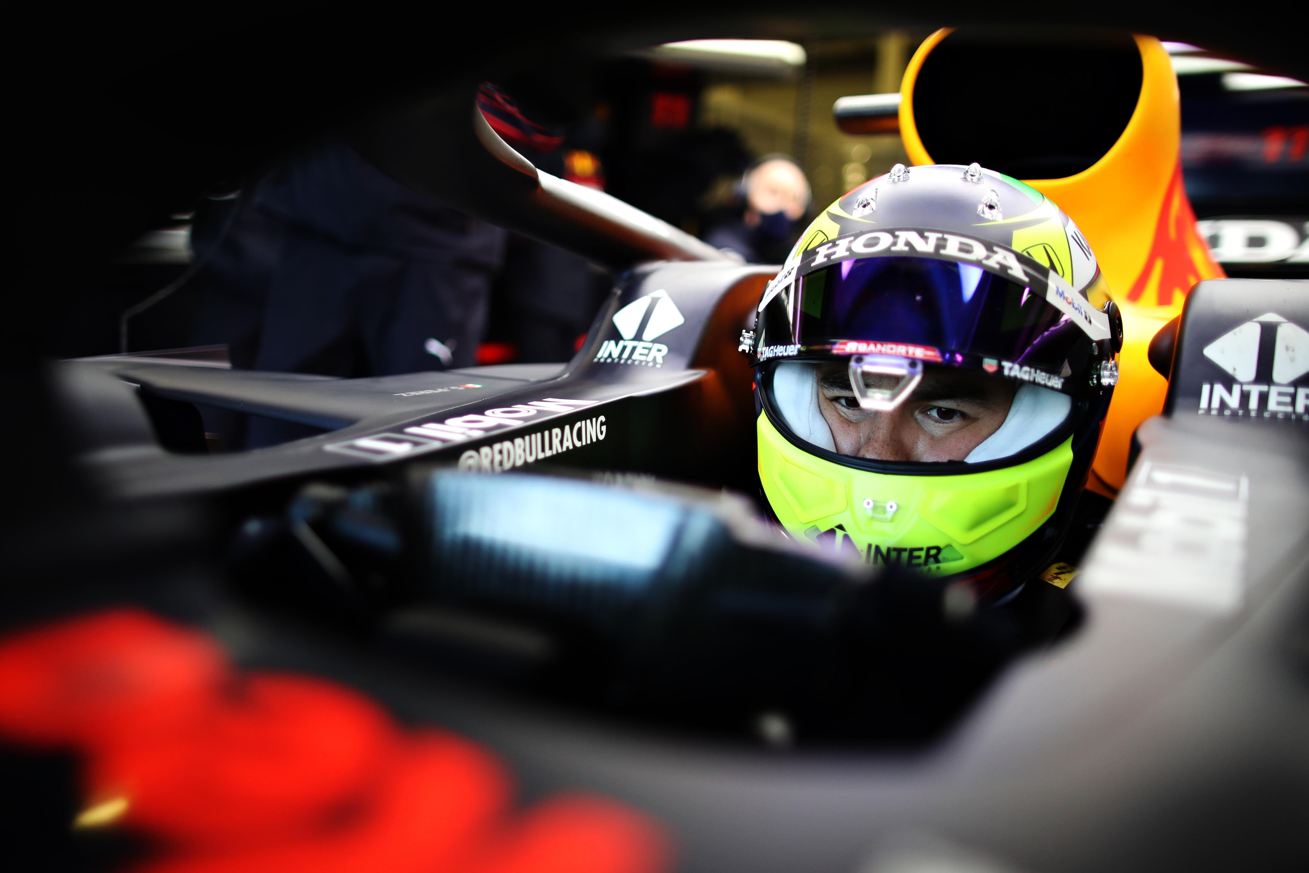 Sergio Perez, Red Bull RB15, Silverstone Test