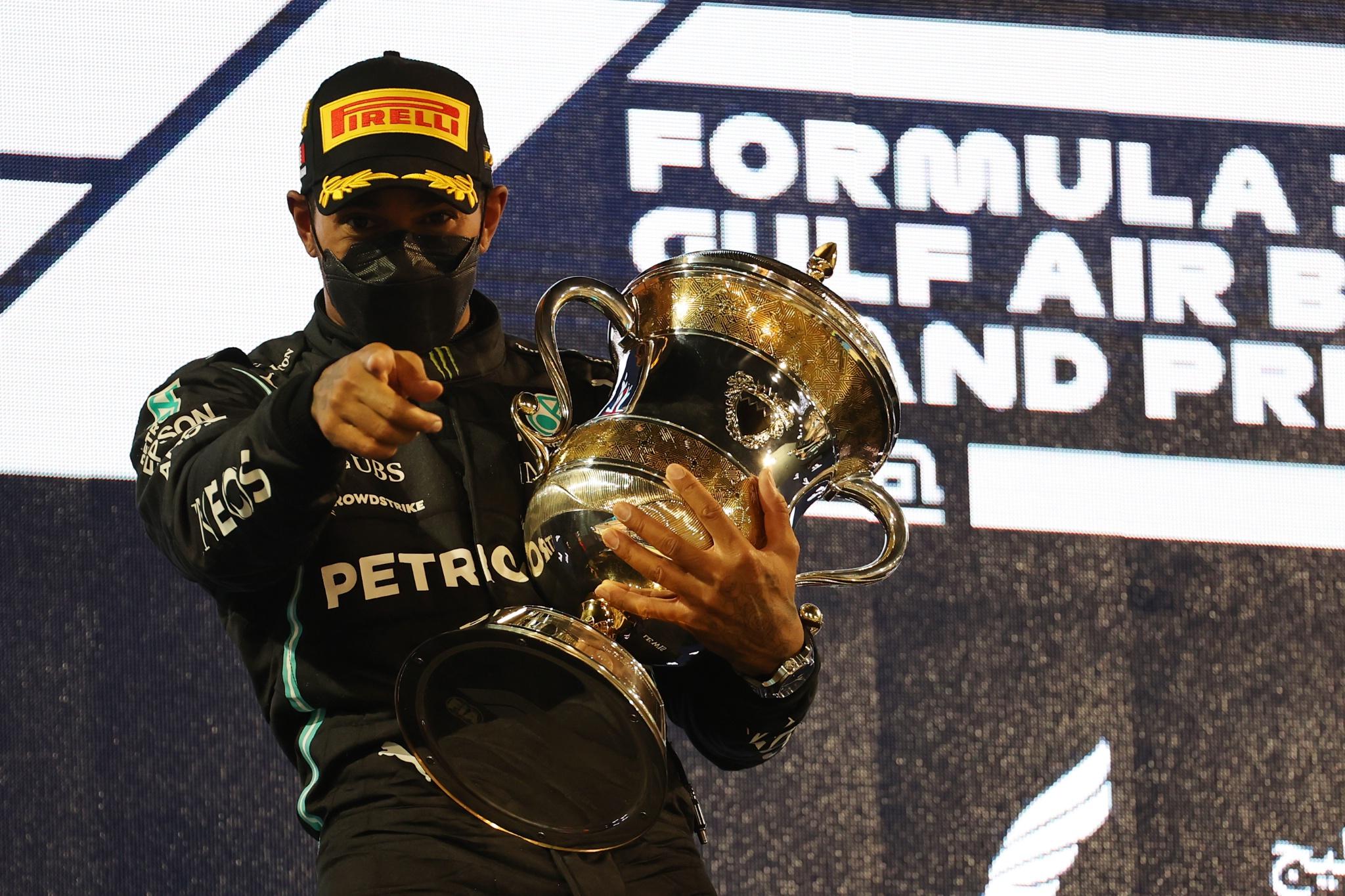 1st place Lewis Hamilton (GBR) Mercedes AMG F1 W12.