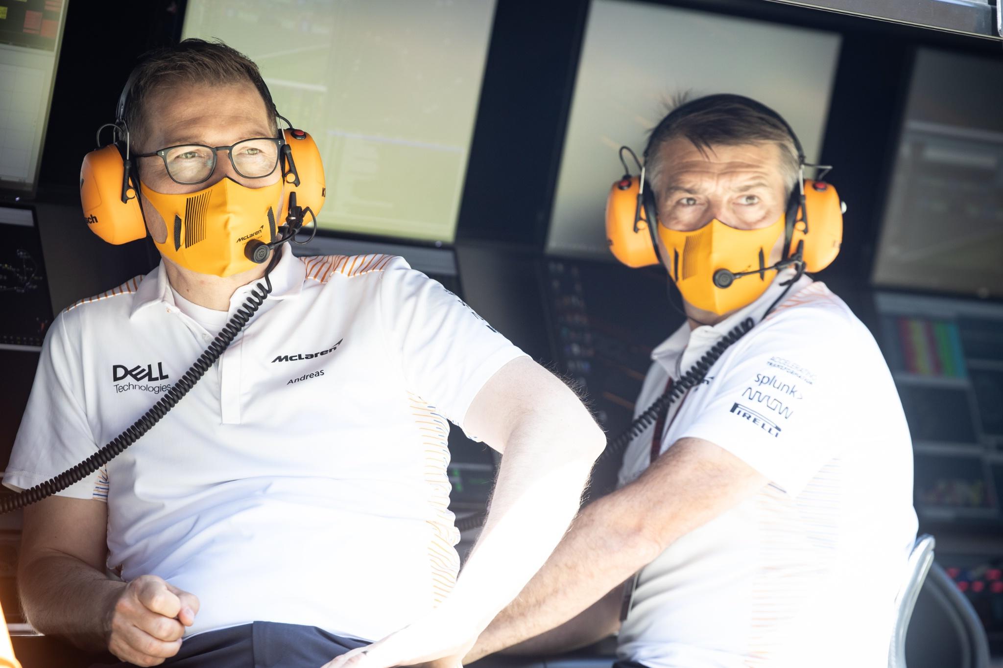 Andreas Seidl, McLaren Managing Director (Left).