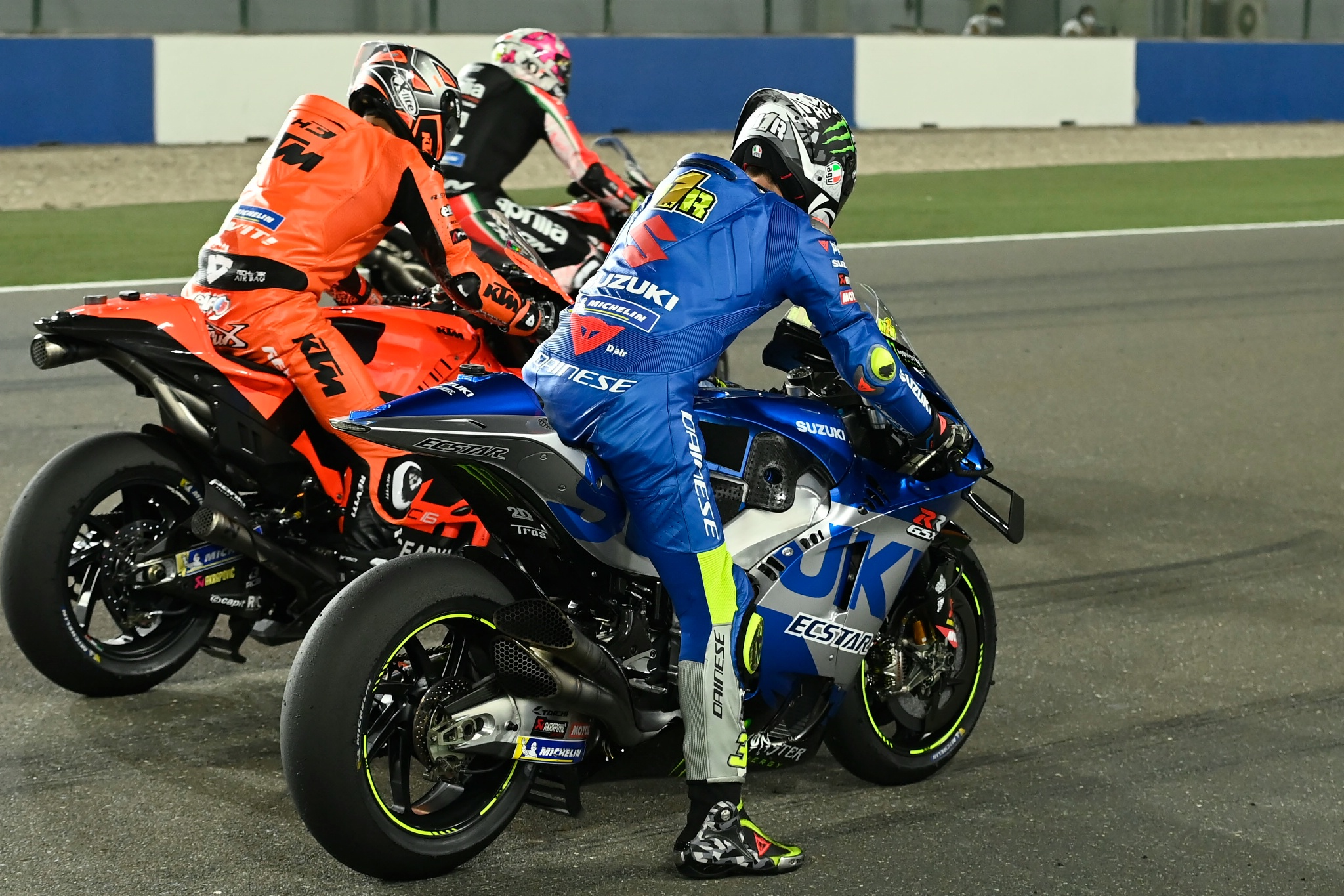 Joan Mir, Practice start, Qatar MotoGP test, 11 March 2021