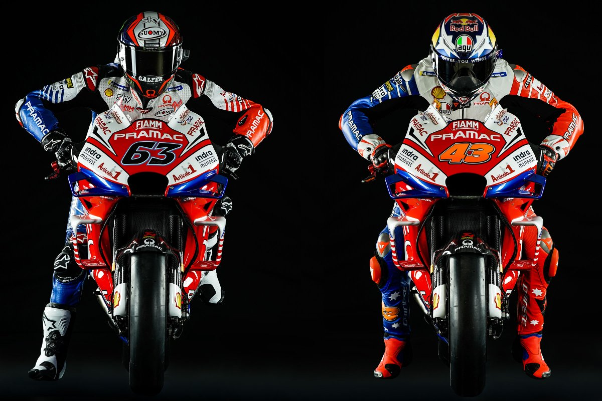 Miller Bagnaia Reveal Pramac Ducati 2019 Colours Motogp News