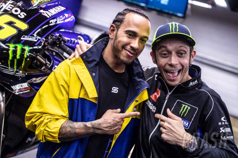 Hamilton teases 'epic', 'best day ever' in Rossi ride swap