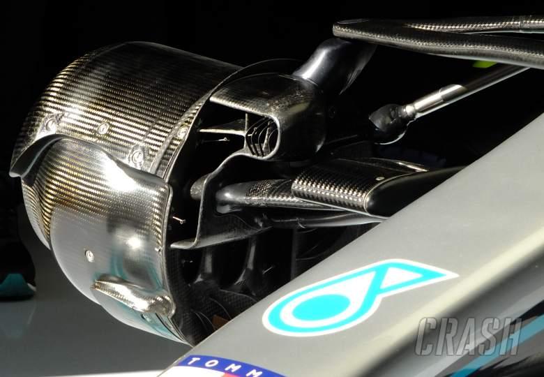Mercedes, W11, DAS, front suspension,