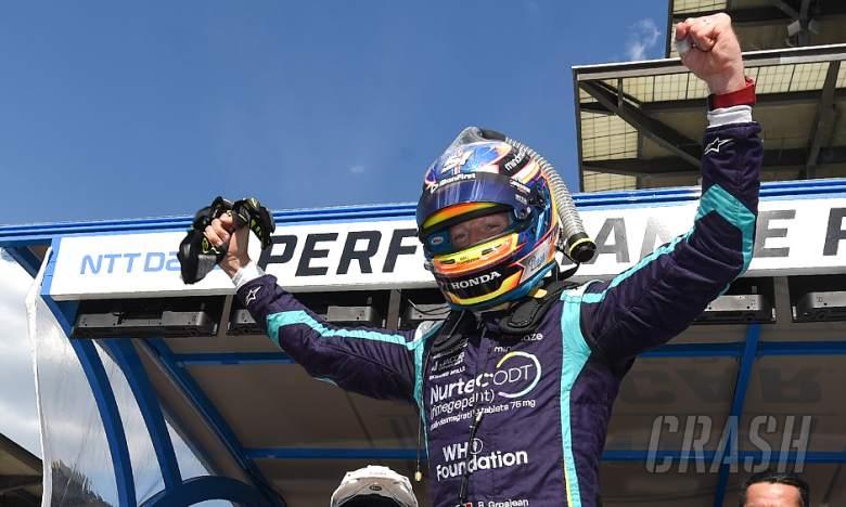 Ex-F1 driver Grosjean claims maiden IndyCar pole in third race