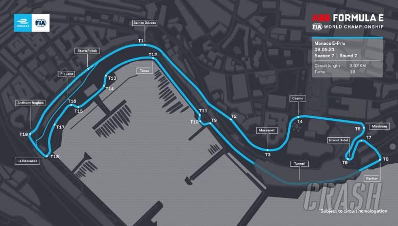 Formula E to race on full Monaco F1 circuit for 2021 E-Prix