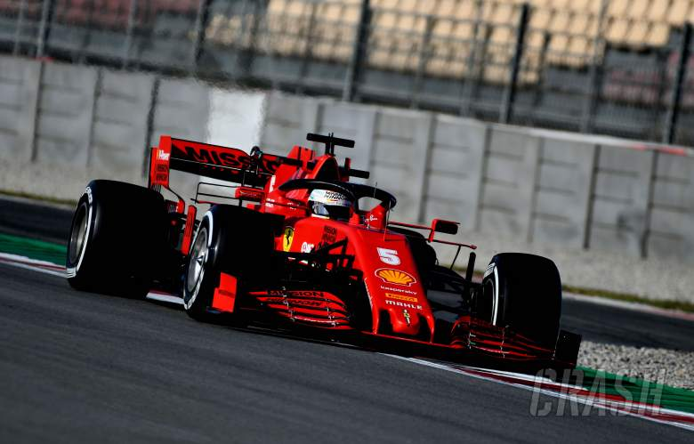 Vettel quickest on wet-dry penultimate F1 test morning