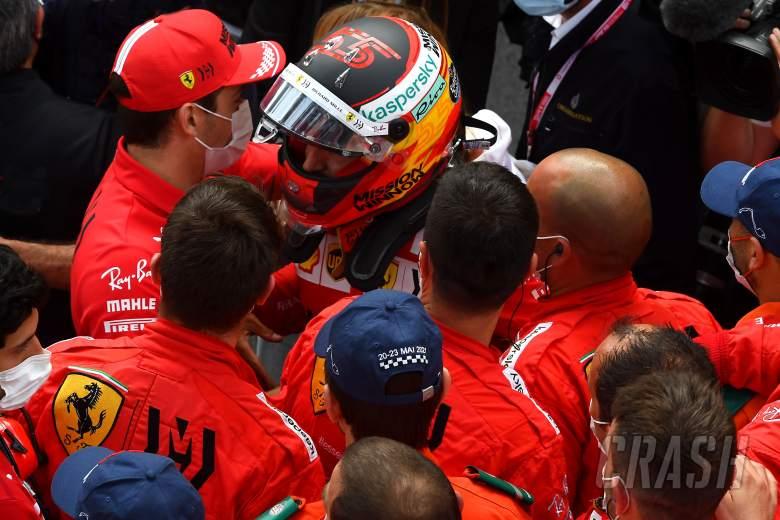 Ferrari impressed by Leclerc's 'great gesture' at Monaco F1 podium
