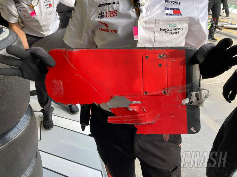 """Bottas """"didn't have time to react"""" to debris that damaged his Mercedes F1 car"""