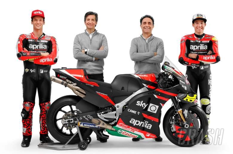 FIRST LOOK: Aprilia presents 2021 MotoGP machine, Savadori alongside Espargaro