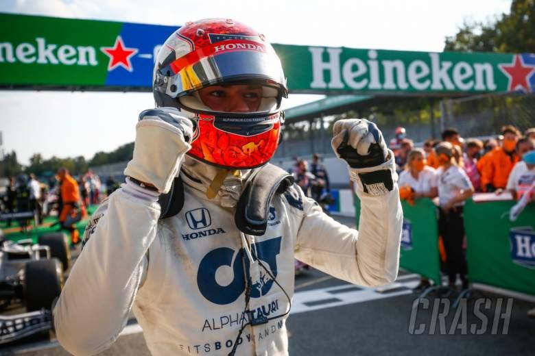 Gasly meraih kemenangan F1 perdananya yang menakjubkan di GP Italia yang gila