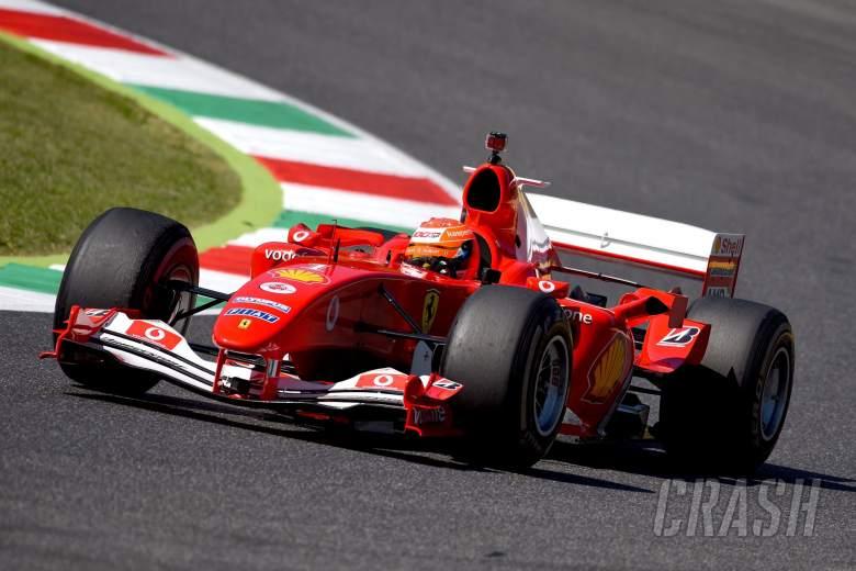 Mick Schumacher demos father Michael's F1 title-winning 2004 Ferrari