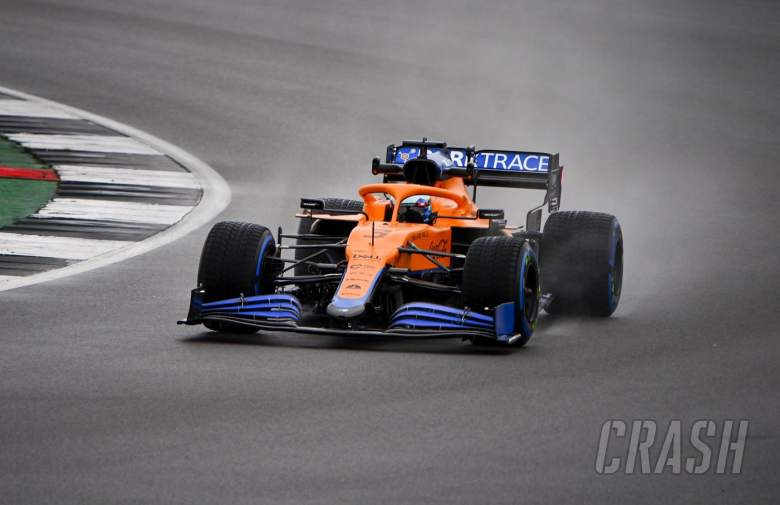 Ricciardo makes McLaren F1 debut in wet Silverstone shakedown