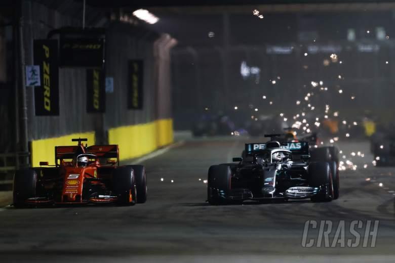 'Very hard' to beat Ferrari at remaining races - Hamilton