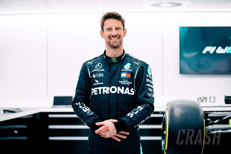 Mercedes Tunda Tes Perpisahan Romain Grosjean di Paul Ricard