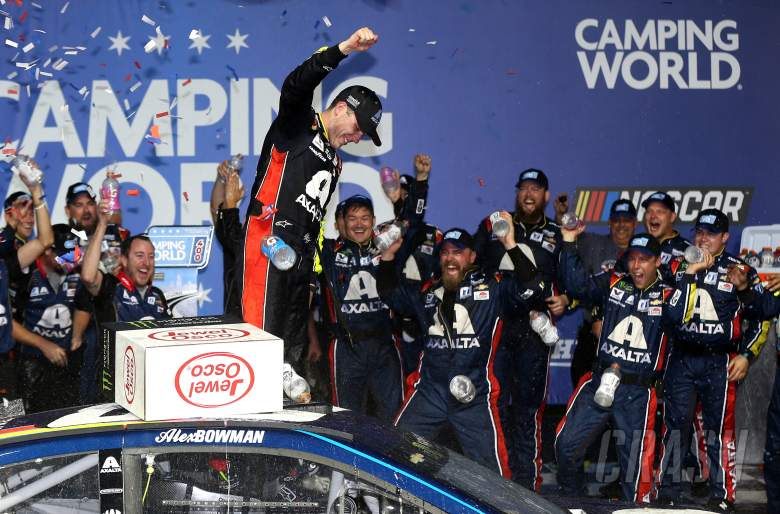 Alex Bowman fends off Kyle Larson for maiden NASCAR win at Chicago