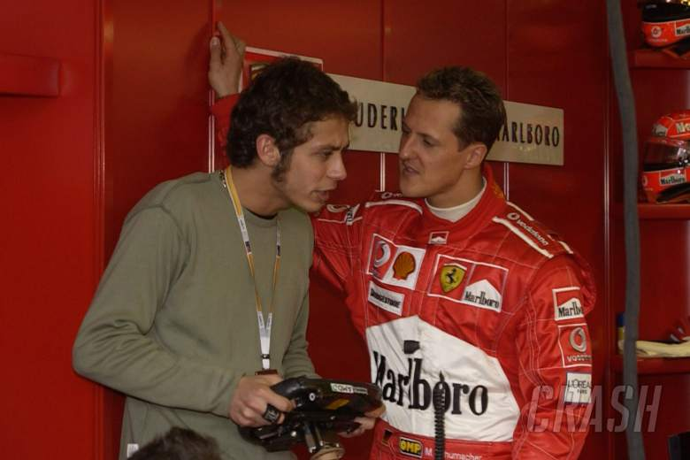 Rossi 'stunned' Schumacher during first Ferrari F1 test