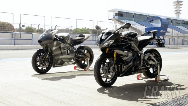 Triumph Daytona 765 and Moto2