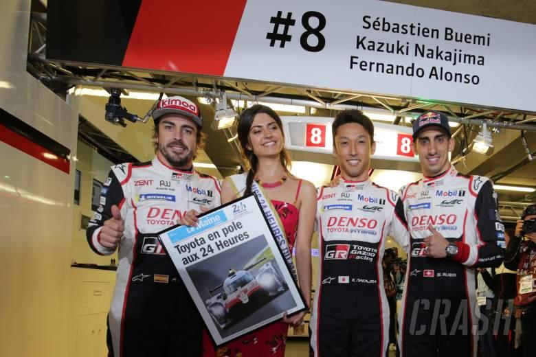 Nakajima leads Toyota charge to Le Mans pole