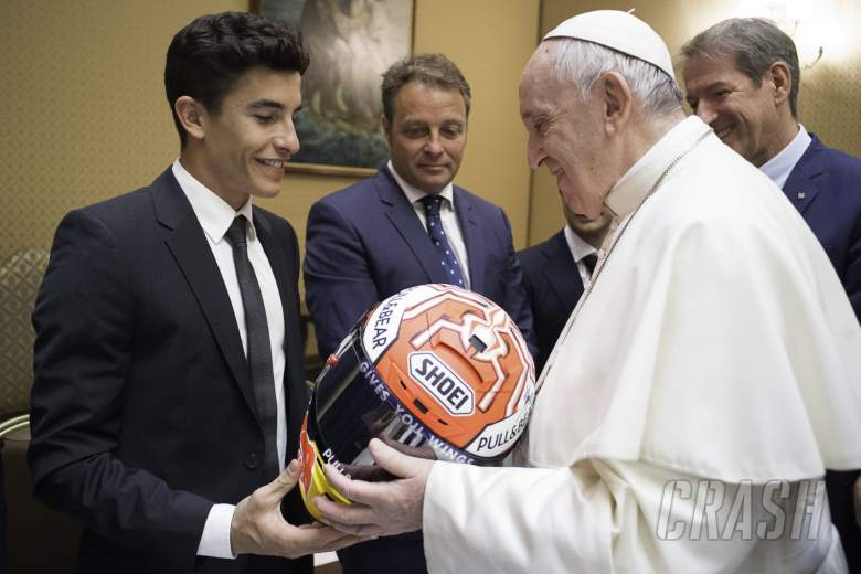 Pope praises sport during MotoGP visit