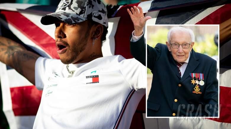 Kapten Tom Moore memberi tip 'anak muda' Lewis Hamilton untuk gelar F1 ketujuh