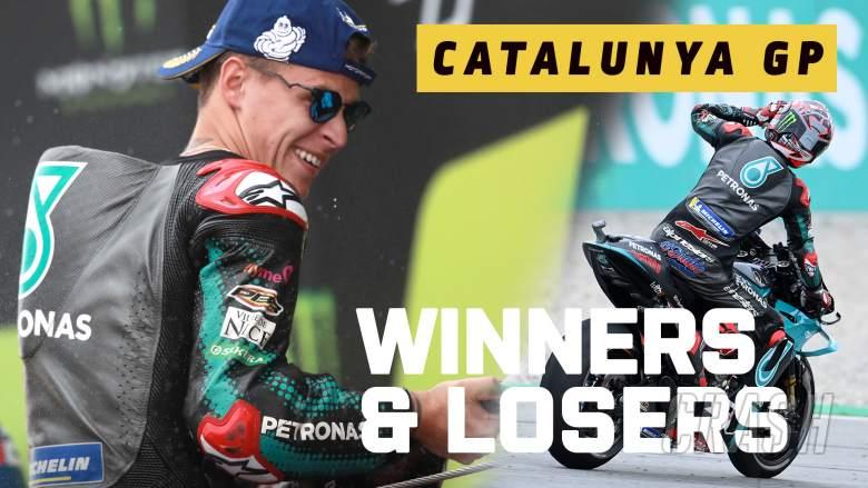 Quartararo di atas, Dovi turun dan keluar - Pemenang & Pecundang MotoGP Catalunya