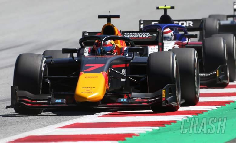 Tsunoda holds off Zhou for maiden F2 pole in Austria