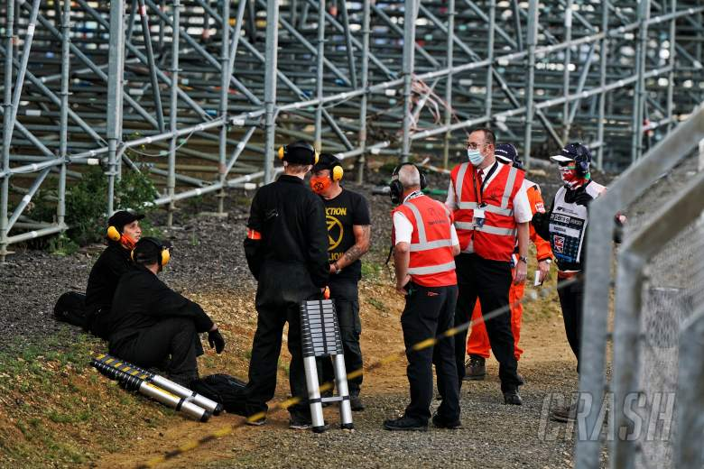 Four protestors arrested at F1 British GP