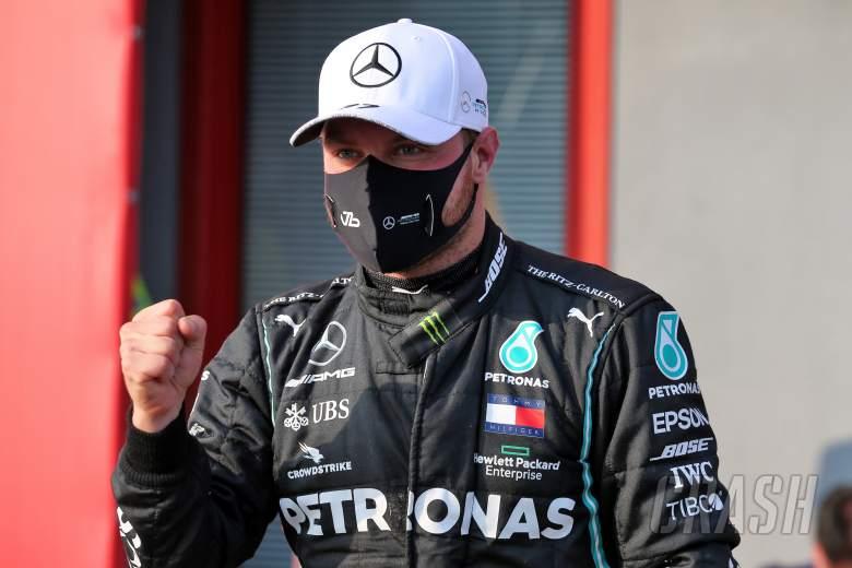 """Bottas """"gemetar"""" setelah mengalahkan Hamilton di tiang F1 Imola"""
