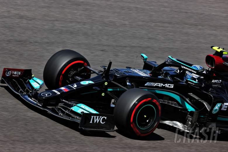 Bottas denies Mercedes teammate Hamilton 100th F1 pole in Portugal