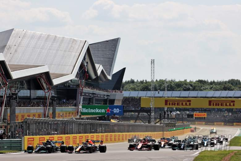 F1 British GP red-flagged after Hamilton and Verstappen collide