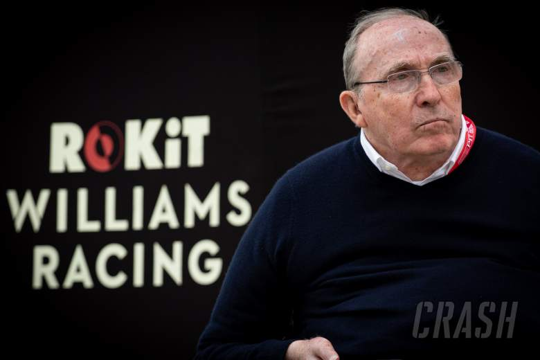 Williams F1 founder Sir Frank Williams in 'stable' condition in hospital
