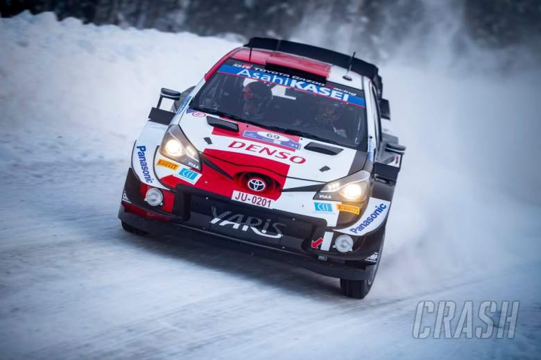 Kale Rovanpera with his Toyota Yaris WRC in action at WRC Arctic