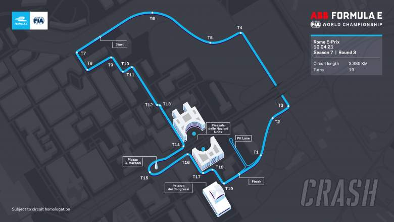 Roma menyetujui perpanjangan lima tahun untuk menjadi tuan rumah Formula E dengan tata letak yang direvisi
