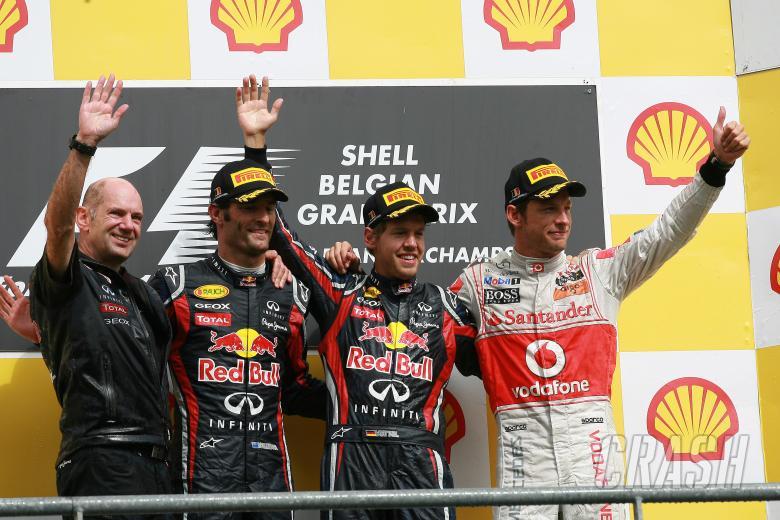 28.08.2011- Race, Sebastian Vettel (GER), Red Bull Racing, RB7 race winner, Mark Webber (AUS), Red B