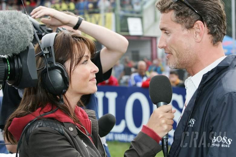 Suzi Perry interviews David Coultard, Czech MotoGP, 2005