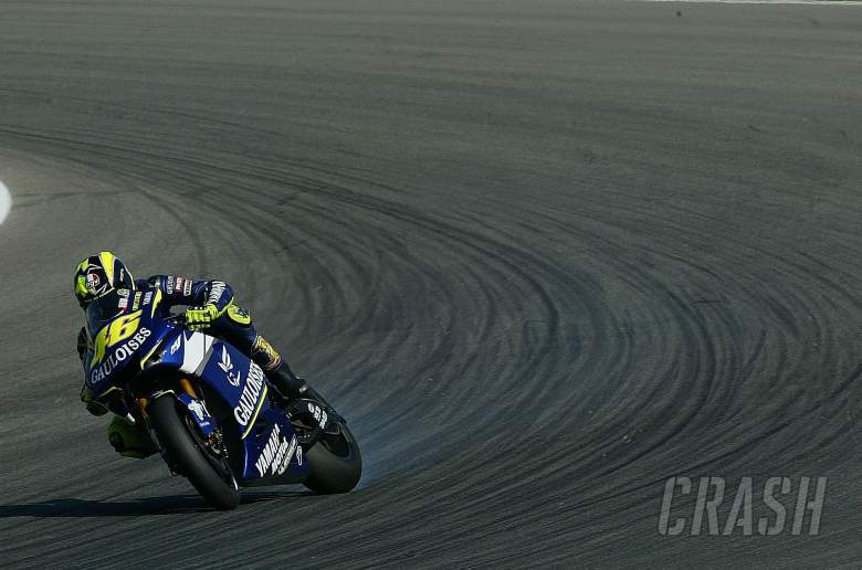 Rossi slides it, Czech MotoGP tests, 29-30th Aug, 2005