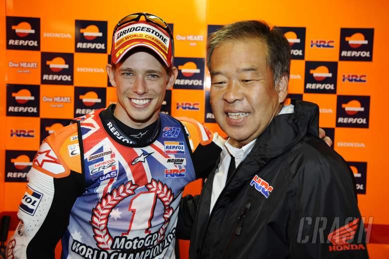 Stoner and Nakamoto, Australian MotoGP Race 2011