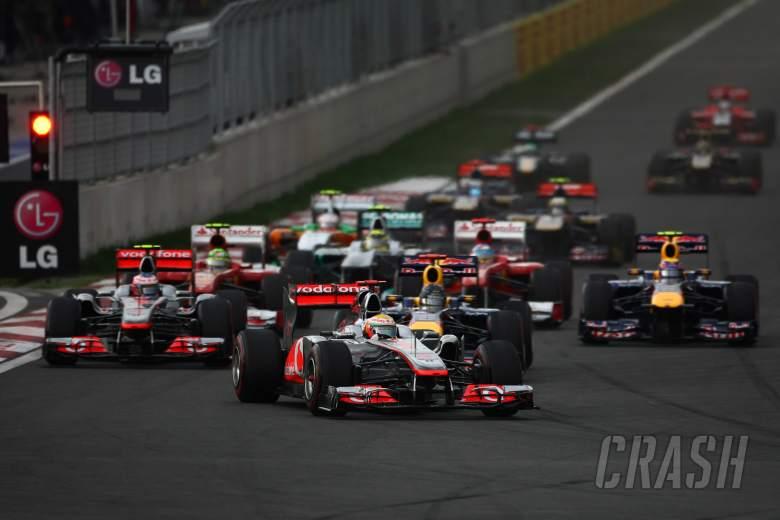 16.10.2011- Race, Start of the race, Lewis Hamilton (GBR), McLaren  Mercedes, MP4-26