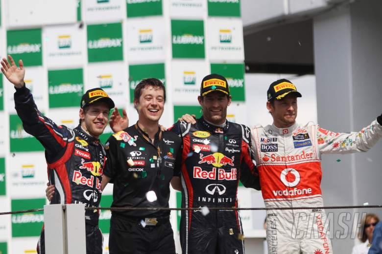, , 27.11.2011- Race, Sebastian Vettel (GER), Red Bull Racing, RB7 2nd position, Mark Webber (AUS), Red