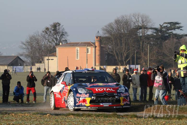 17.01.2012- SŽbastien Loeb (FRA) Daniel Elena (MON), Citroen DS 3, Citro'n Total World Rally Team