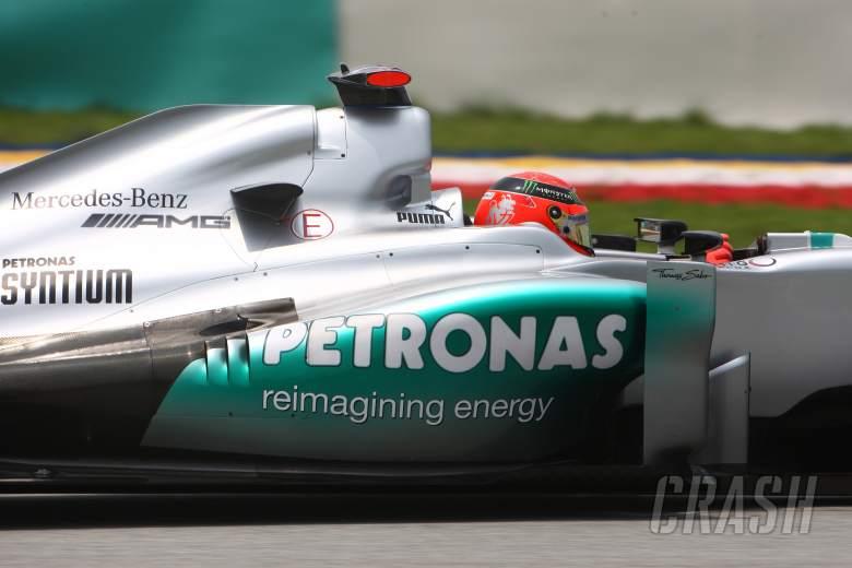 23.03.2012- Free Practice 2, Michael Schumacher (GER) Mercedes AMG F1 W03