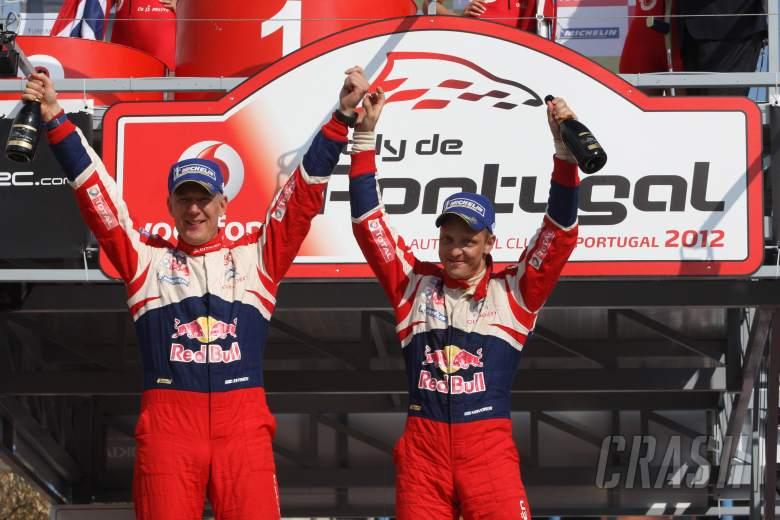 Podium, Mikko Hirvonen (FIN) Jarmo Lehtinen (FIN), Citroën DS3 WRC, Citroën Total World Rally Team