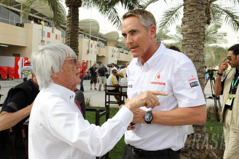 , , 20.04.2012- Bernie Ecclestone (GBR), President and CEO of Formula One Management  and Martin Whitmar