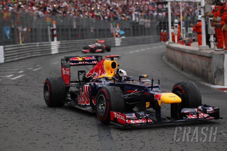 27.05.2012- Race, Mark Webber (AUS) Red Bull Racing RB8 celebrates his victory