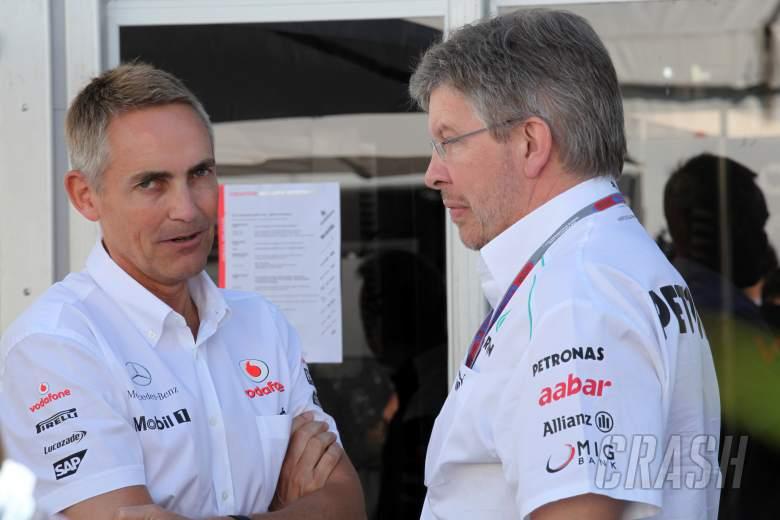 09.06.2012- Martin Whitmarsh (GBR), Chief Executive Officer Mclaren and Ross Brawn (GBR), Team Princ
