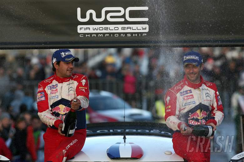 Podium - 1st outright Sebastion Loeb (FRA) Daniel Elena (MCO) Citroen DS3 WRC