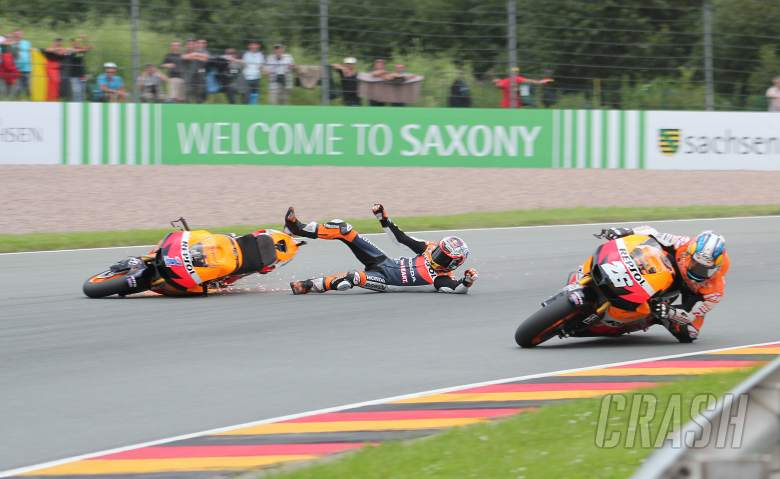 Stoner crash, German MotoGP 2012