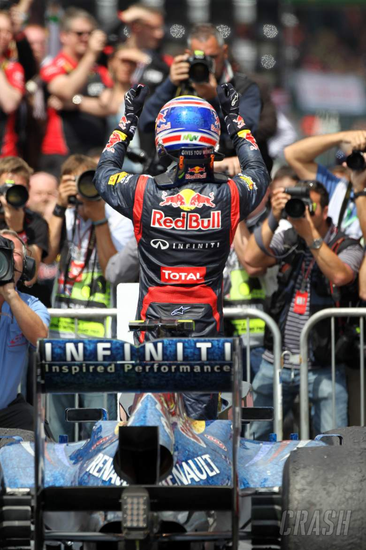 08.07.2012- Race, 1st position Mark Webber (AUS) Red Bull Racing RB8